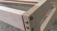 喜多包实木拼接床1366款安装步骤