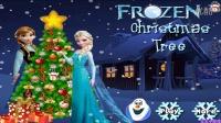 ★冰雪奇缘电影中文版免费★艾莎宝贝制作冰激凌.艾莎布置圣诞树