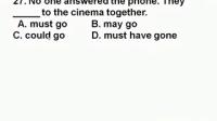 高二英语模块测试试卷27题