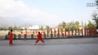 河南省登封市嵩山少林寺武僧文武学校的学生训练实拍