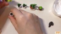 手作多肉植物--花盆和花泥制作视频