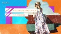 AE模板-时尚色彩斑斓遮罩线条元素时装展示片头模板17727616