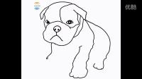 儿童简笔画 速绘 小狗 各种小狗的画法