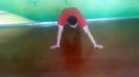 黑角团街舞教学大地板-[手转] [头转] [肘抛] [大风车