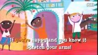 新编经典英文儿歌,如果高兴你就拍拍手,每一帧画面都是一幅儿童画