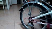 大行折叠自行车改装轮组空转