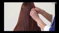 大脸女生适合的发型超美荷兰瀑布流两股夹编发造型8,甜美女孩想要的发型