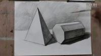 新视觉美术彩色铅笔画教程_素描教程图片正方体_简单素描教程风景画素描教学