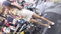 【美女写真系列】8_白色连体裙美腿美女车模_国