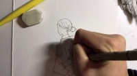 可爱的女生简笔画