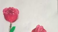 儿童画美术微课教学 玫瑰花的画法