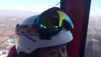 570-长白山滑雪在缆车上跟老头聊天