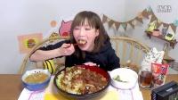 【木下大胃王】感谢投食!大盆猪排饭配兵库县加古川特产酱汁 @柚子木字幕组