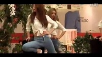 一群牛仔裤美女为开业庆典献舞,看呆了