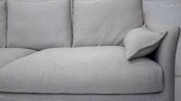 北欧布艺沙发客厅棉麻可拆洗实木羽绒双三人位现代宜家简约小户型