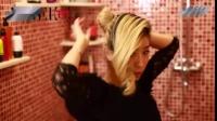 韩式发型盘发 简单扎头发的方法