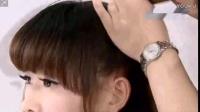 编发发型图片 一款简单可爱韩系麻花辫小盘发