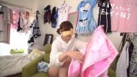 日本网红美女主播换装秀粉红色旗袍装