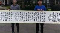 周恩来逝世纪念日,书法家创作128米毛体书法长卷纪念革命先烈