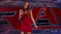 本自同根生,WWE尼基贝拉看着姐姐布里1对2,布里