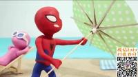 搞笑蜘蛛侠冰雪奇缘绿巨人软泥定格动画 圣诞节 超级英雄 焦虑先生第2季