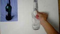 9-7啤酒瓶的画法步骤(三)