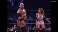 每日一练WWE经典男女双打混战,麦特哈迪打不过