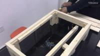 实木床1366款安装视频
