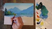 唯美油画风景海景教学