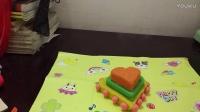 用橡皮泥做一个三层豪华爱心蛋糕
