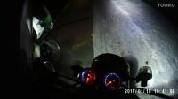 摩托车黑夜骑行