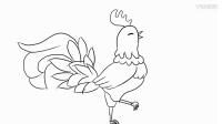 教小朋友画骄傲的大公鸡儿童简笔画教程