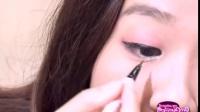 化妆视频教程 单眼皮眼线的画法 怎样画大眼妆