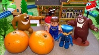 小火车托马斯乐迪乐高玩具熊出没美化家园植树造林喜洋洋4619