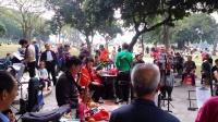 深圳中山公园乐队--女声独唱---我家住在黄土高坡