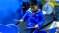 荣思诺--练习 《洋娃娃和小熊跳舞》 仙桃蓝调琴行 蓝精灵架子鼓