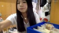 58爱吃饭的妹子 上海蛋黄酥+20枚馄饨+二又零食推荐 ~吃播~_美食圈_生活