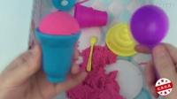 太空沙做冰淇淋甜点冰棒