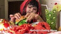 【英文吃播】南美温迪吃汉堡包和洋葱圈