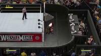 WWE2K17_ 紫色衣猛女Vs红发彪悍女!很嗨- -