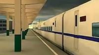 儿童玩具火车、动车在轨道运行展示