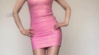 玲珑广场舞 一曲相思 粉红短裙性感辣妈跳广场舞视频