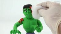 【极酷花园】粘土动画:在超市艾莎的手推车撞了浩克!!【定格动画】