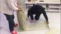 天猫威抗旗舰店实木玩具架安装视频