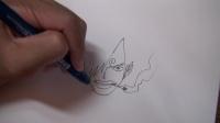 日本卡通漫画素描详细教程顔を描く練習 (1)