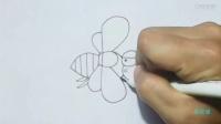 幼儿简笔画蜜蜂 蜜蜂简笔画视频
