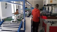 三台鞋厂工厂工人做工鞋的生产过程