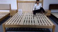 舒乎家具床CH1原木色北欧沙发日式沙发原木沙发北欧家具日式家具