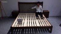 舒乎家具床CH1胡桃色北欧家具日式家具北欧沙发日式沙发3D效果出图