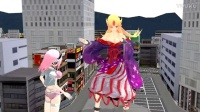 MMD Giantess - There is always the bigger girl - Y